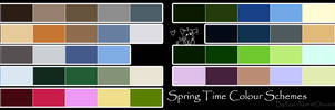 Free To Use Colour Schemes: Spring Time
