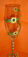 Sunflower Wedding Glass