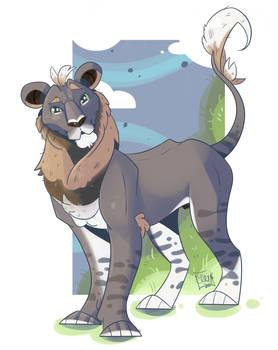 Adolescent lion boy