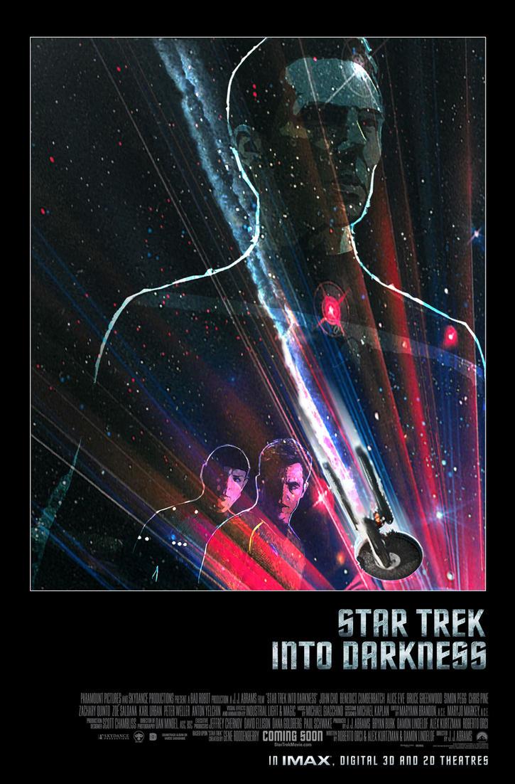 STAR TREK INTO DARKNESS Movie Poster By Alistair Rhythm