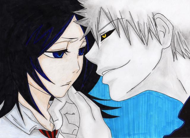 ichigo and rukia kiss - photo #11