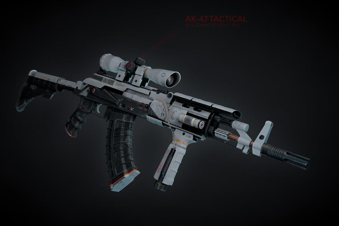AK47 Tactical (custom white paint) by vladimirpetkovic