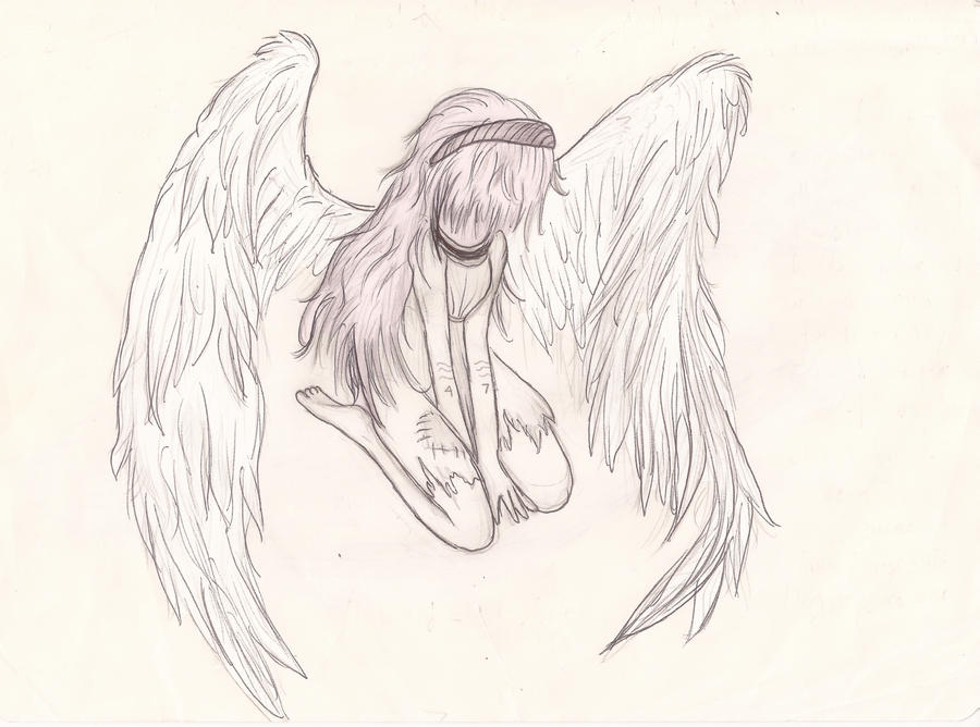 Fallen Angel, bow with shame by CamiSchizoidAndroid