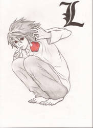 L and Ryuk's apple by CamiSchizoidAndroid