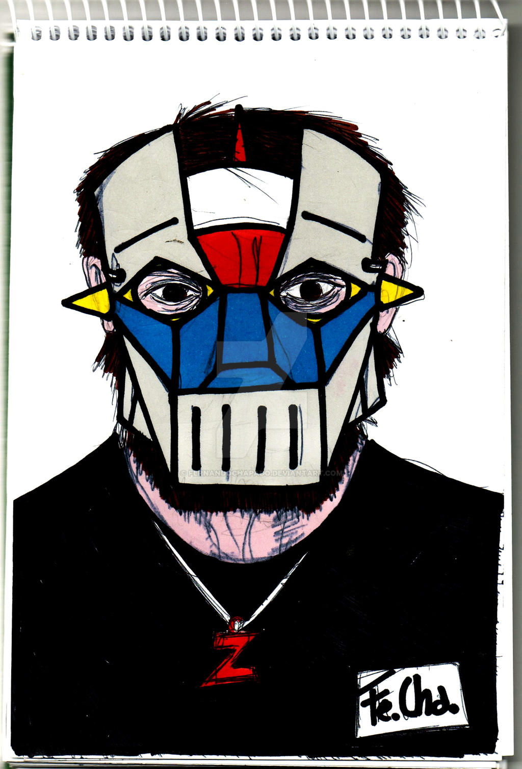 mazinger mask by fernandochapado