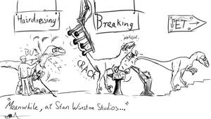 Meanwhile, at Stan Winston Studios... by TheWoodParable