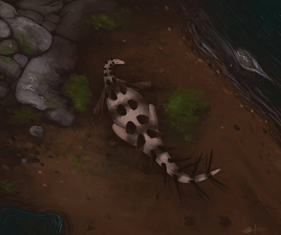 ''Changdusaurus laminoplacodus'' by TheWoodParable