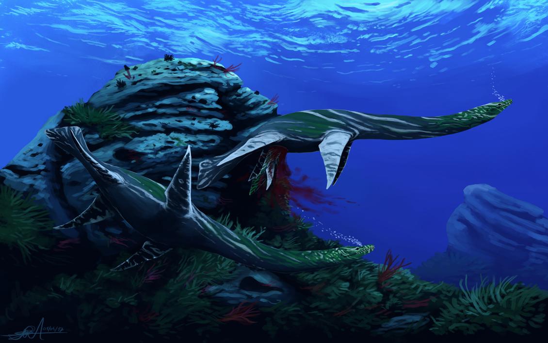 Plesiosaurus dolichodeirus by TheWoodParable
