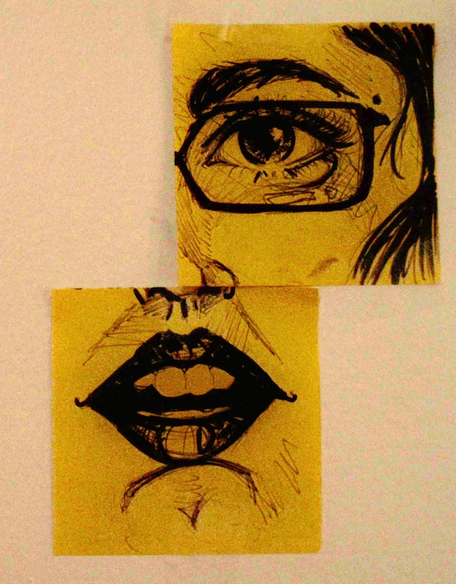 Post It Note Art by HanBO-Hobbit