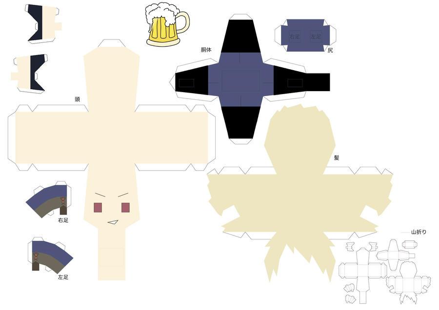 Beer Drinking Prussia Template by Hamazakiakimi