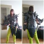 Skyrim daedric armour. Now with lights!