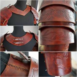 Leather LARP shoulder armour
