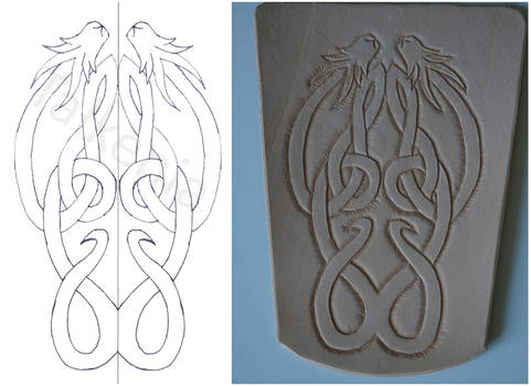 Archery bracer: From drawing to leather
