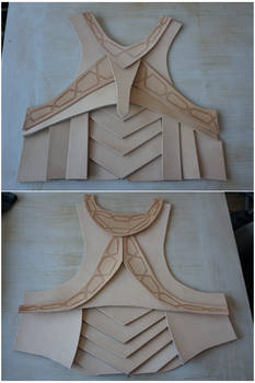 Leather armour wip - tooling in progress