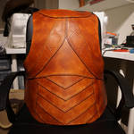 Leather armour back