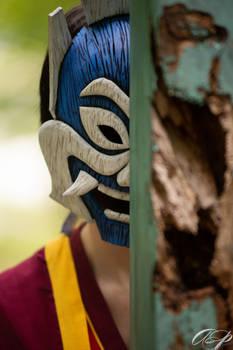 The blue masked spirit