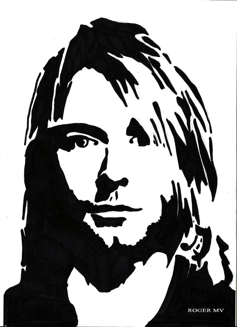 kurt_cobain_self_portrate_by_rogermv d6czwi9