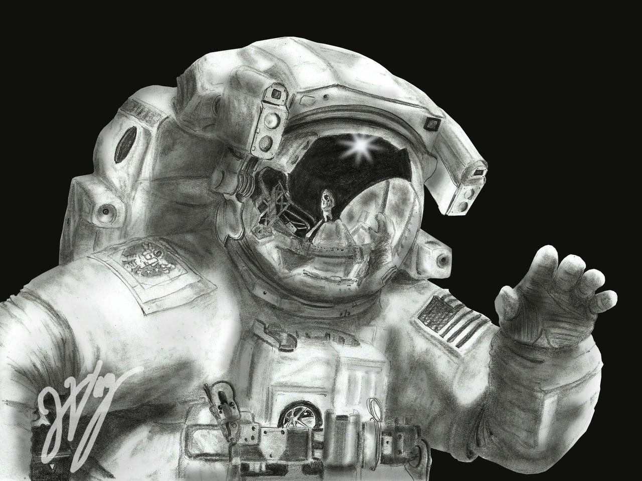 astronaut space drawing - photo #37