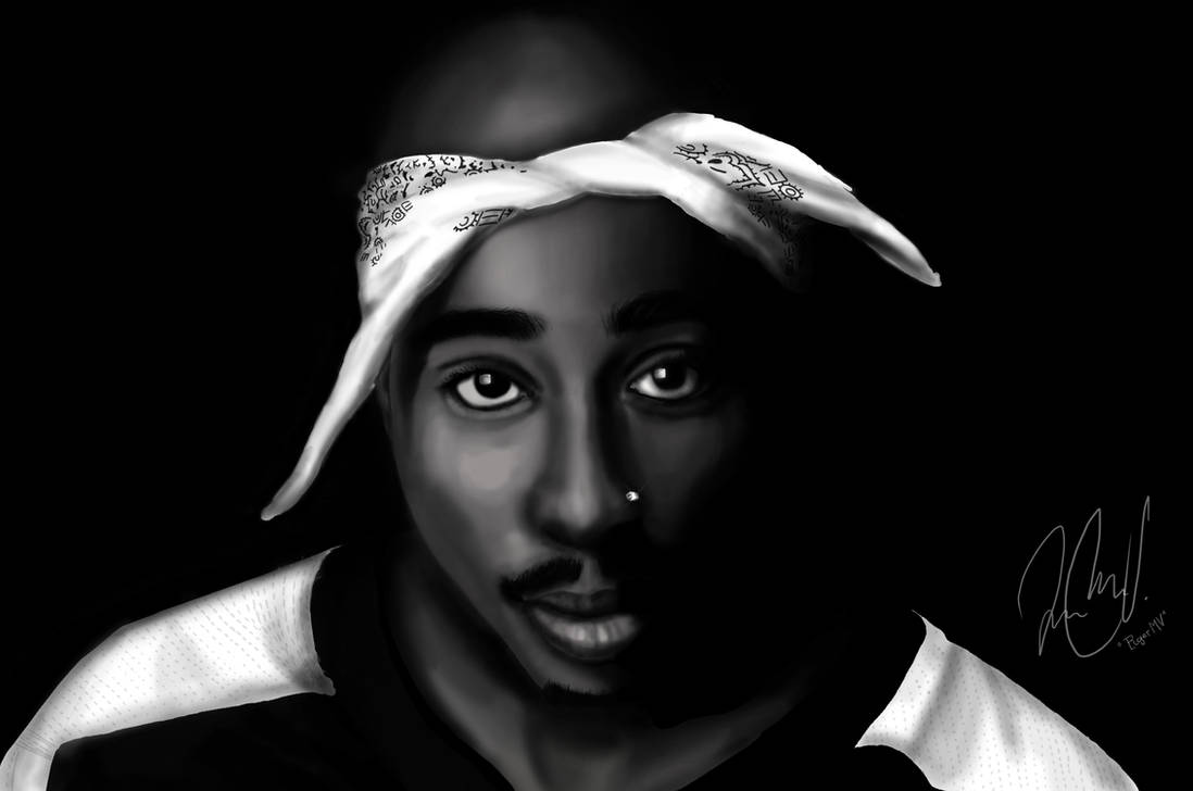 Tupac shakur drawing by rogermv
