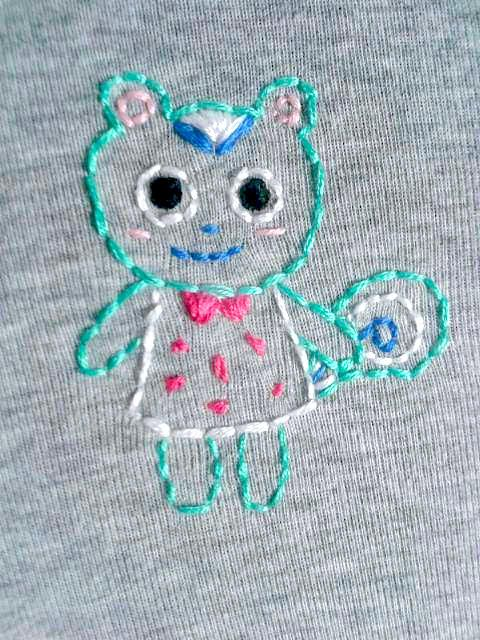 Embroidery: Filbert the Squirrel by Chanel-P-Chan