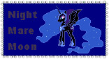 Nightmare Moon Stamp by CuboneGirl