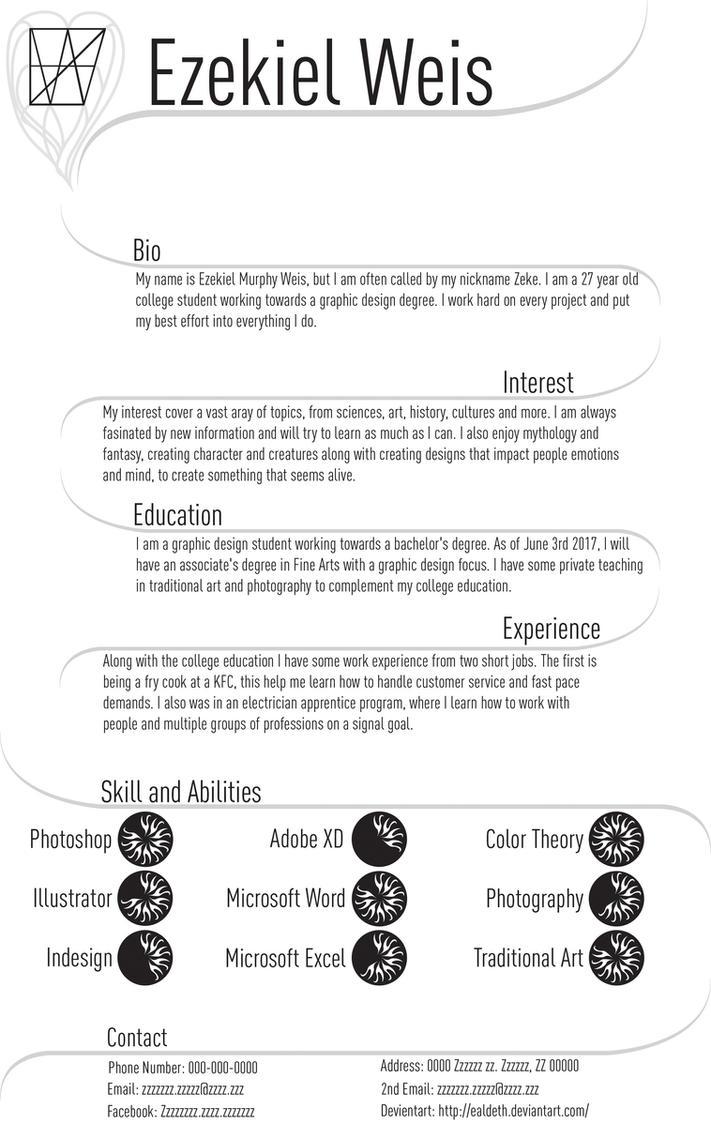 Personal Resume Design Letterrgb By Ealdeth On Deviantart