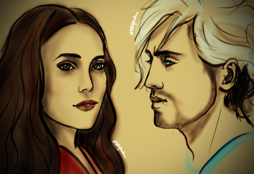 Maximoff Twins by janique-marie