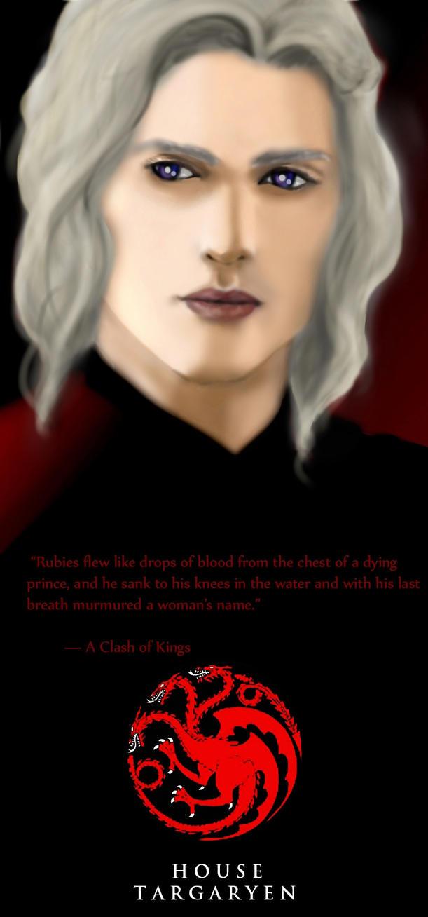 Rhaegar Targaryen by janique-marie