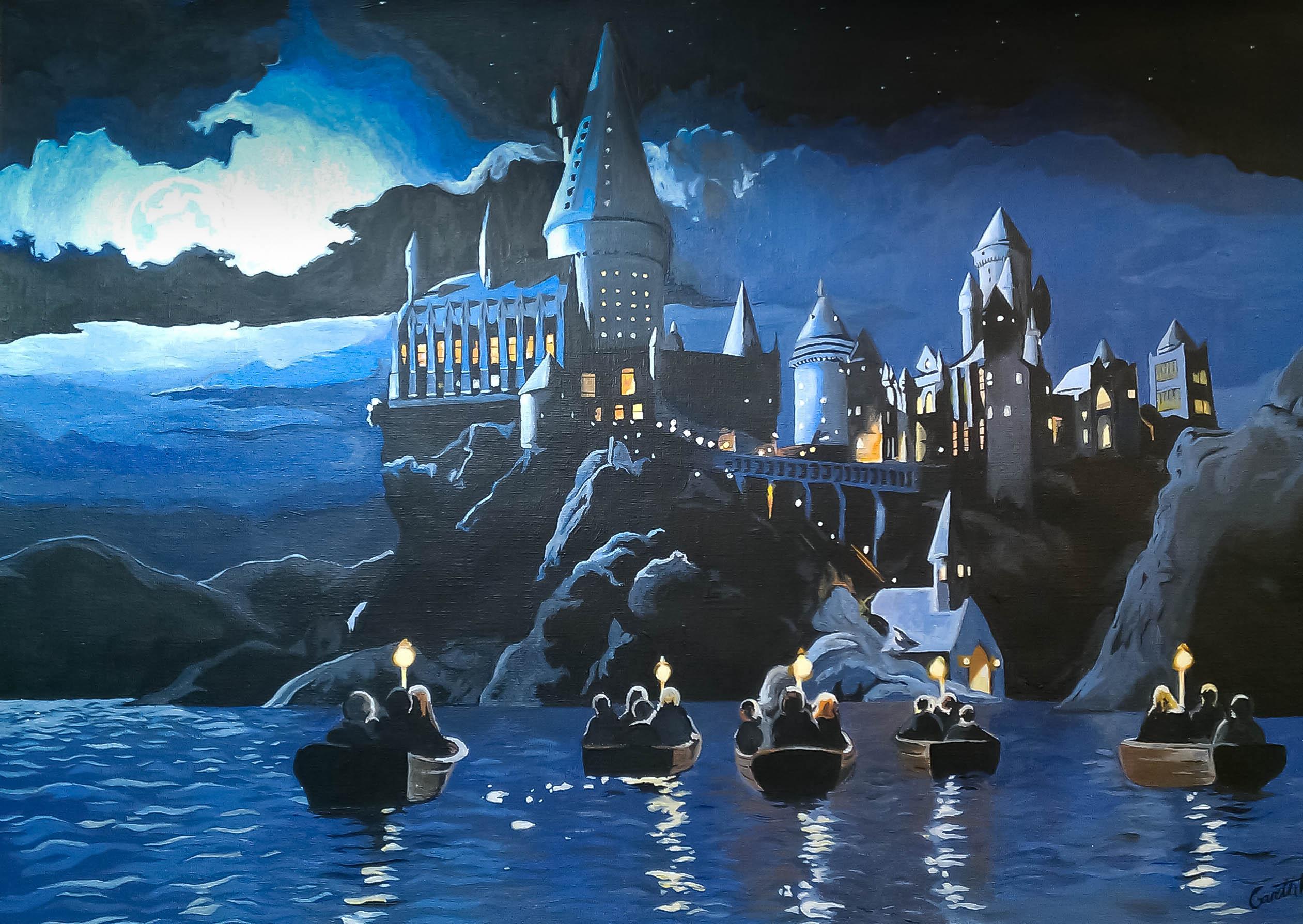 Starry Night Hogwarts Painting Www Imgkid Com The Image Kid Has It