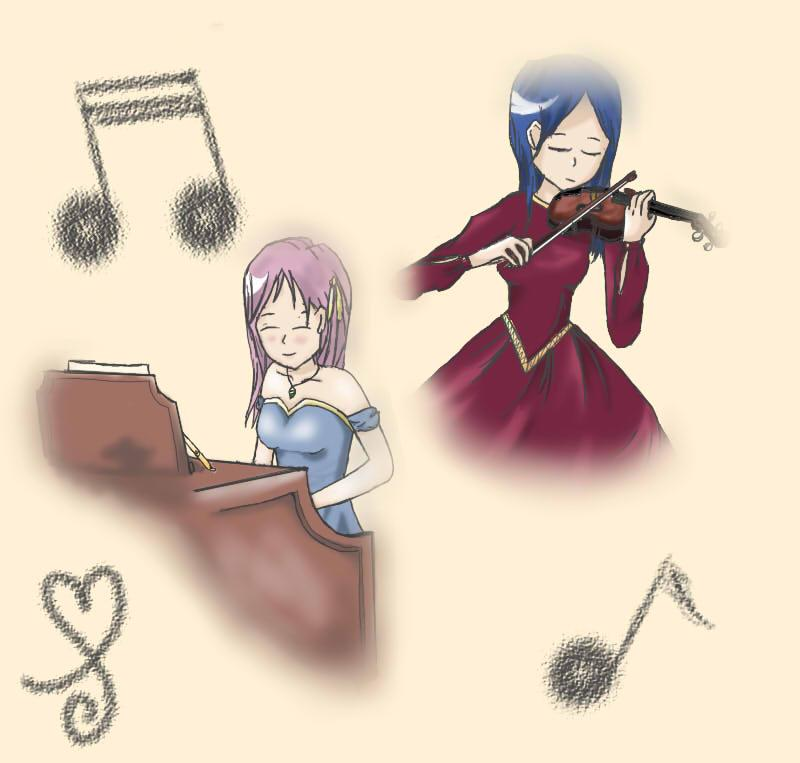Piano and Violin 2013 by Bayberrycheesecake