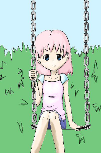 Child on Swing by Bayberrycheesecake