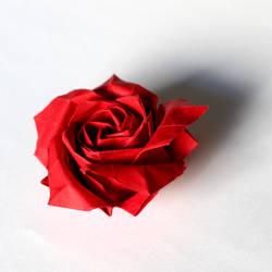 Origami red rose by Astrelya