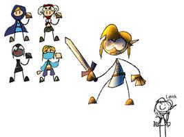 Link but puppet
