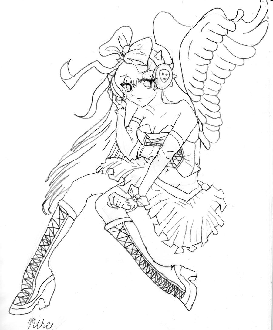 Angel girl by dusk 728 on deviantart for Girl angel coloring pages