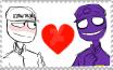 Mike Schmidt x Purple Guy Stamp by EvilDemonNeko