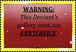 Fan Service Warning Stamp by EvilDemonNeko