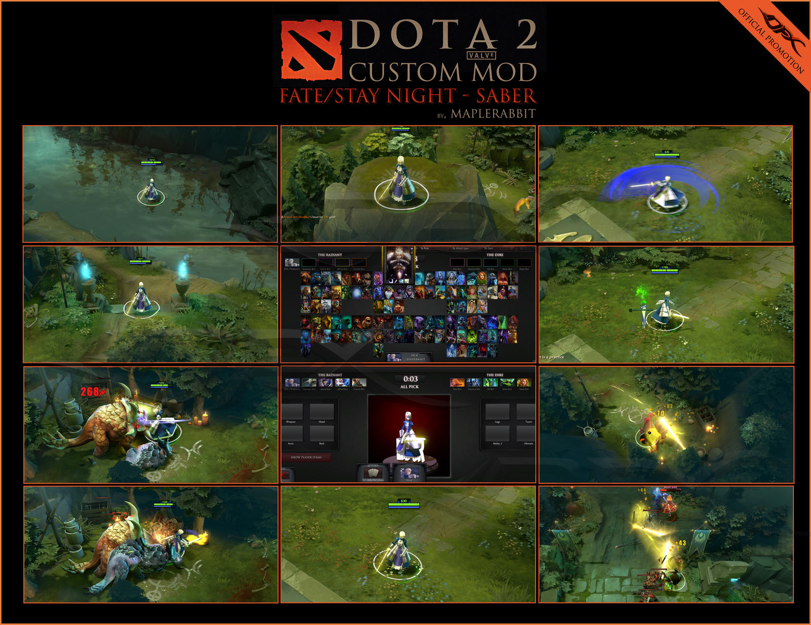 Saber Fate/Stay Night DotA2 Mod by DotaFX on DeviantArt