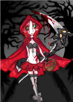 Red Riding Hood Wolf Slayer by AnnSanityOo