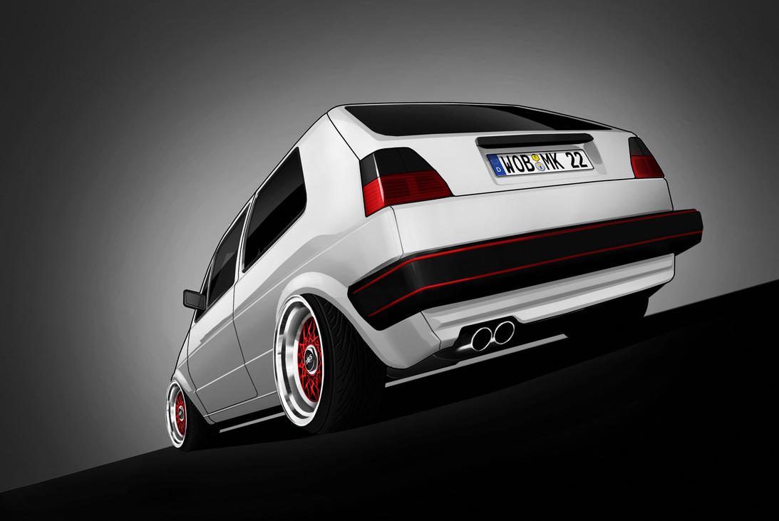 volkswagen golf 2 toon by marko0811 on deviantart. Black Bedroom Furniture Sets. Home Design Ideas