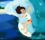 Surfing by Valliegurl