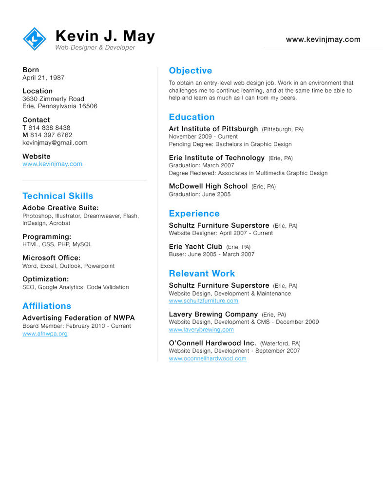 New Resume Look by DeFined04 on DeviantArt