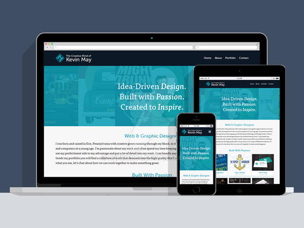 Responsive Portfolio Redesign by DeFined04