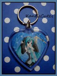 Hatsune Miku Keychain VOCALOID by ObjectionSoS
