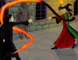 McGonagall's Duel by hyenacub