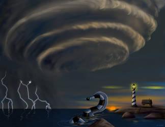 Storm Serpent by hyenacub