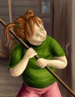 Day 4 - Ginny Weasley by hyenacub