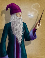 Day 9 - Albus Dumbledore by hyenacub