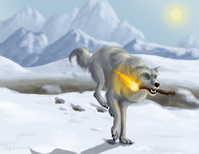 How Coyote Stole Fire by hyenacub