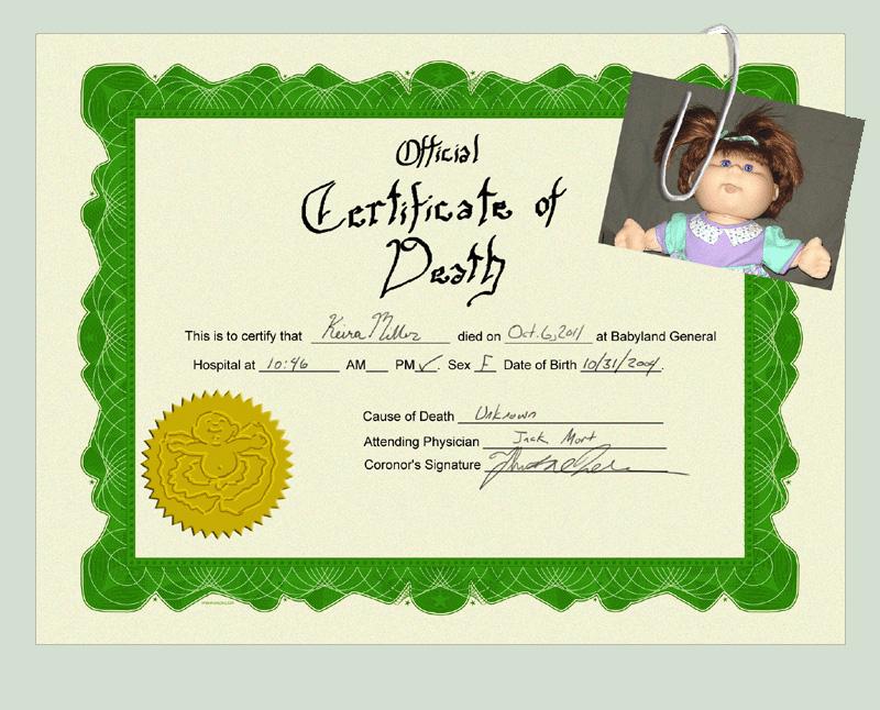 Certificate of Death - 6 by hyenacub on DeviantArt