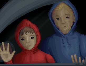 October Dark Art 1 - Black-Eyed Children by hyenacub